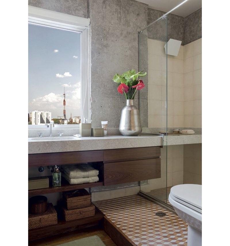 Como Fazer Um Banheiro Com Cimento Queimado Rústico E